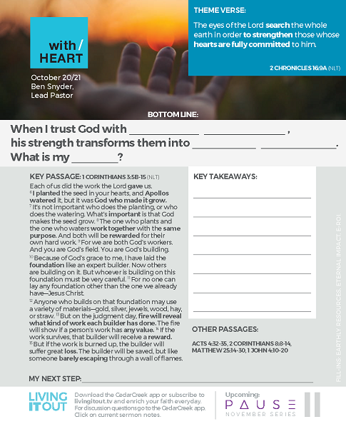 With Heart – Resources – Living It Out